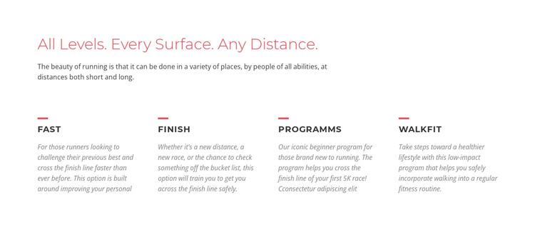 Running challenges Website Builder Software