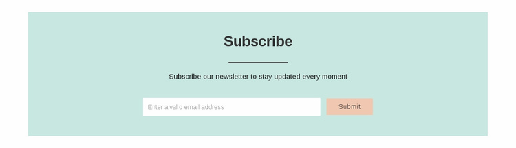 Subscribe Website Template