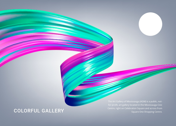 Colorful gallery Joomla Template