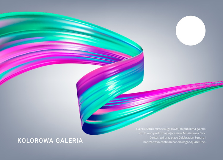 Kolorowa galeria Szablon witryny sieci Web