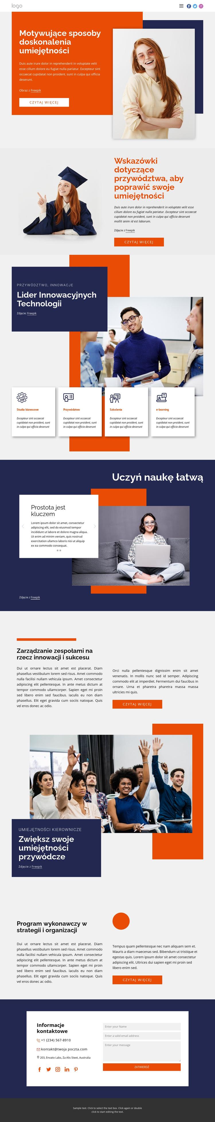 Rozwijaj swoją karierę Szablon witryny sieci Web