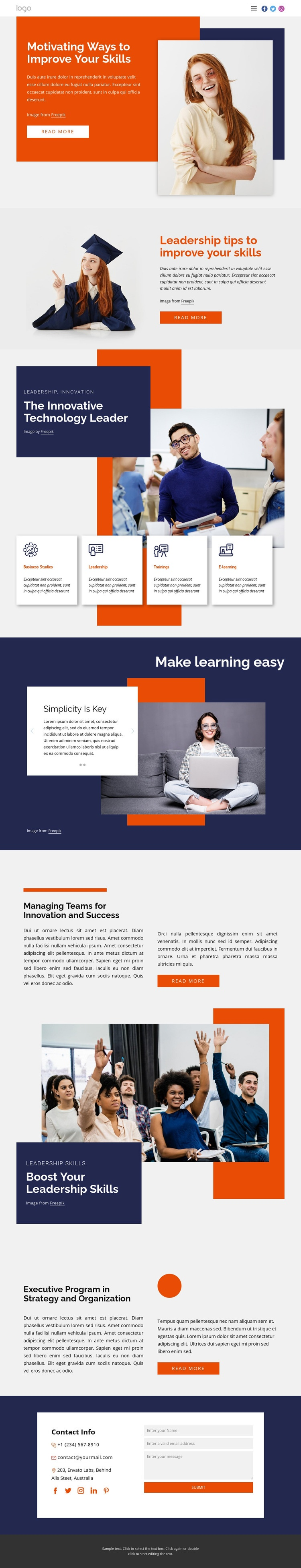 Drive your career forward Web Page Design