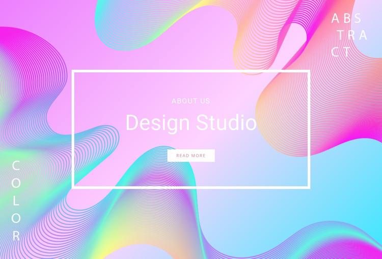 Neon design studio Website Mockup
