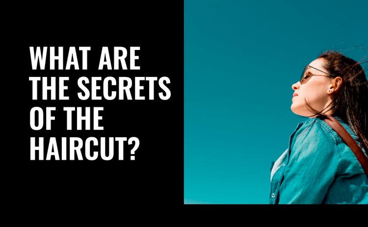 Secrets of the haircut Website Template