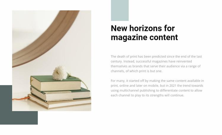 New horizons Website Template