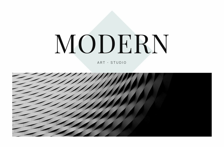 Modern in architecture Web Page Design