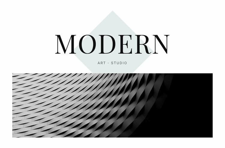 Modern in architecture Web Page Designer