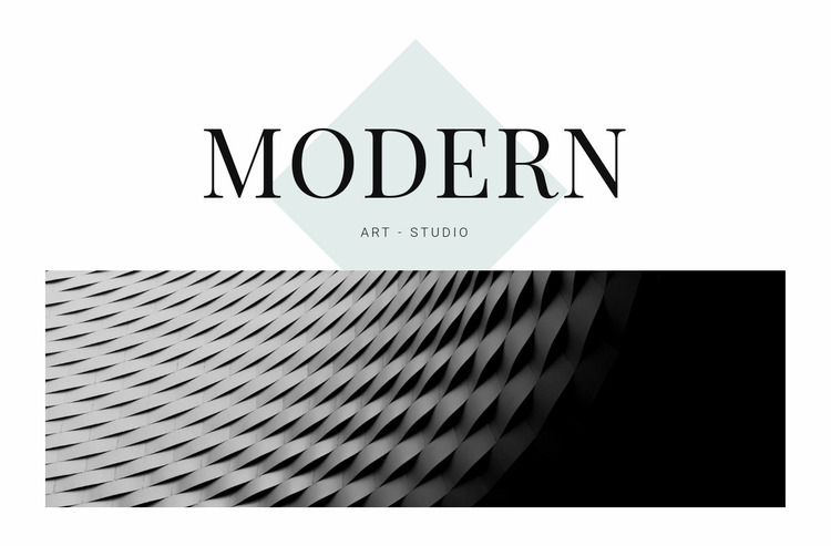 Modern in architecture Website Mockup