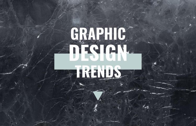 Graphic design trends Html Website Builder