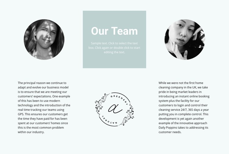Our flowers team Web Page Designer