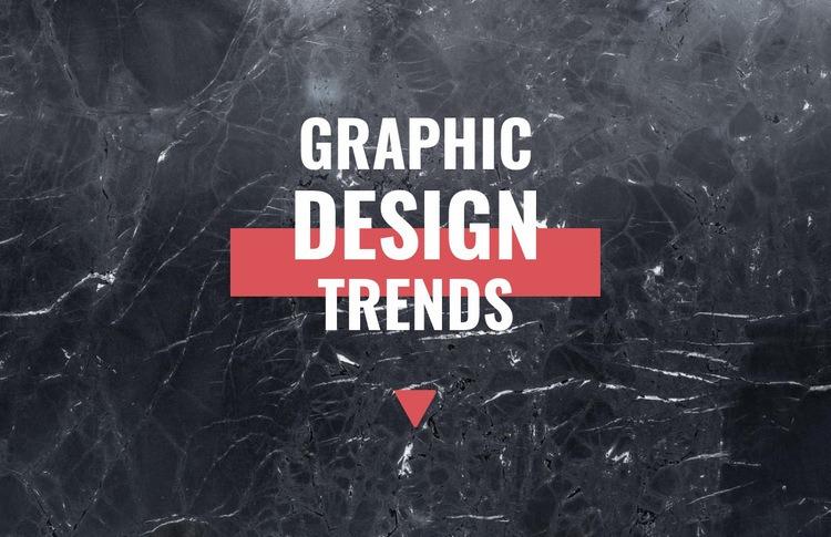 Graphic design trends Web Page Designer
