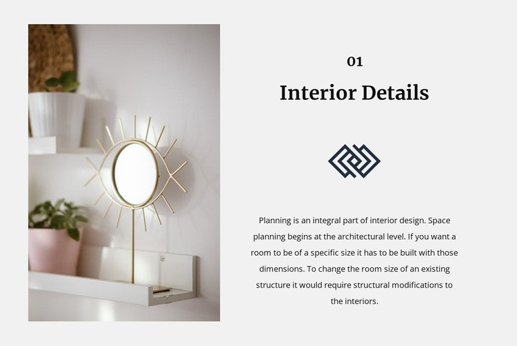 Mirrors in the interior Web Page Designer