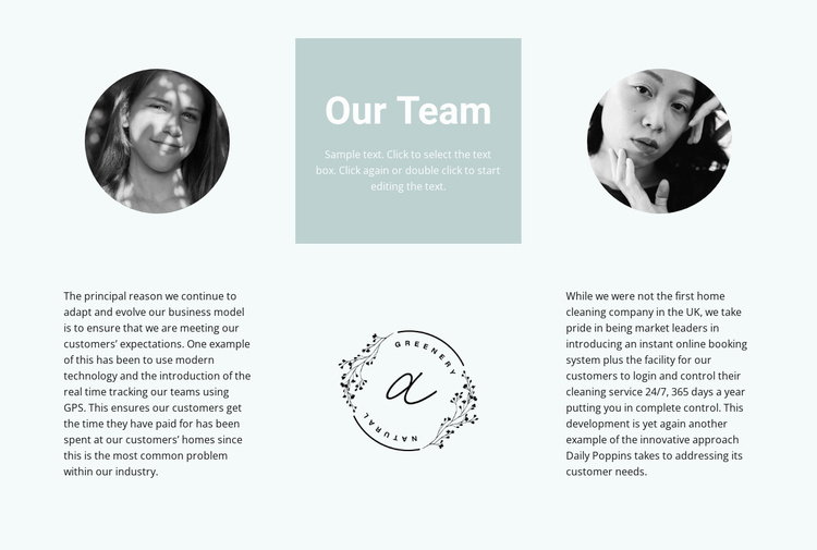 Our flowers team Website Template