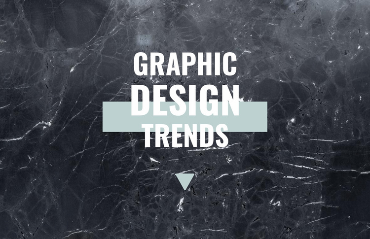 Graphic design trends Website Template