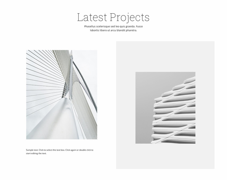 Successful projects Website Template