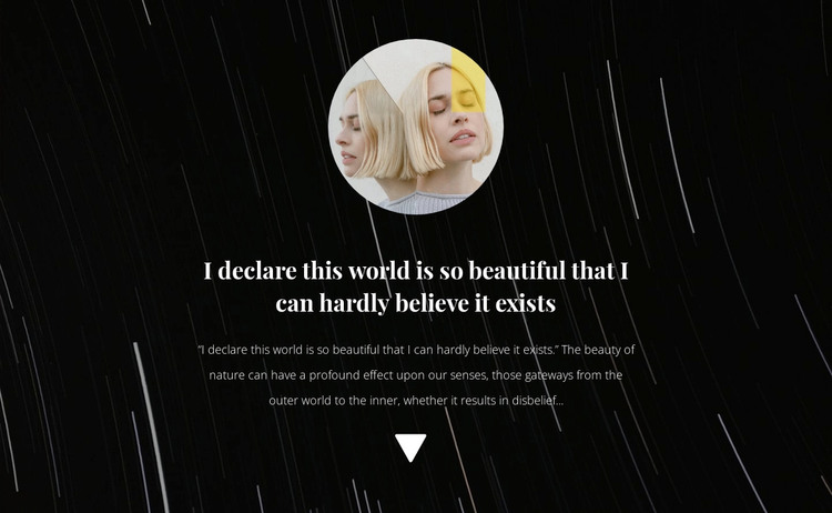 Photo and text on background WordPress Theme