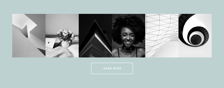 Six-picture gallery HTML Template
