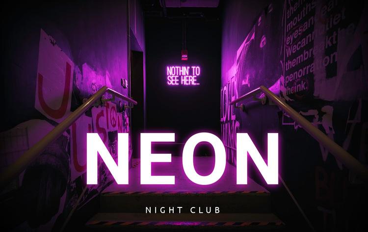 Neon night club HTML5 Template