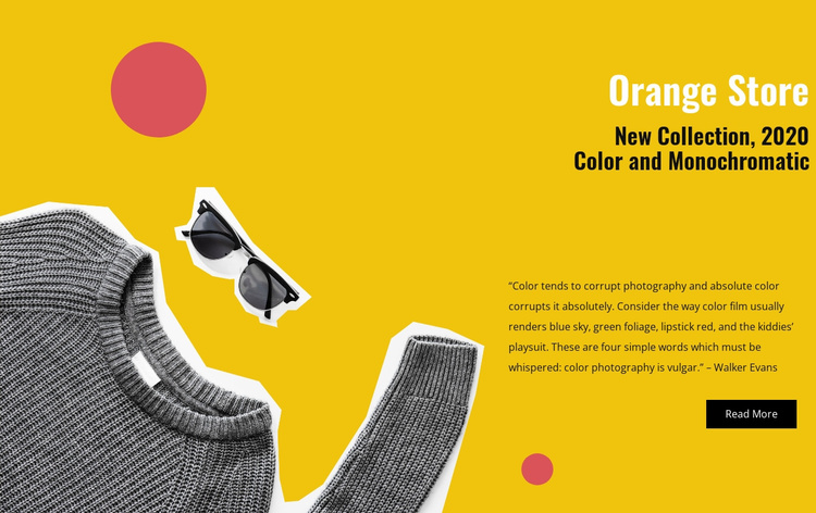 Orange store Website Template