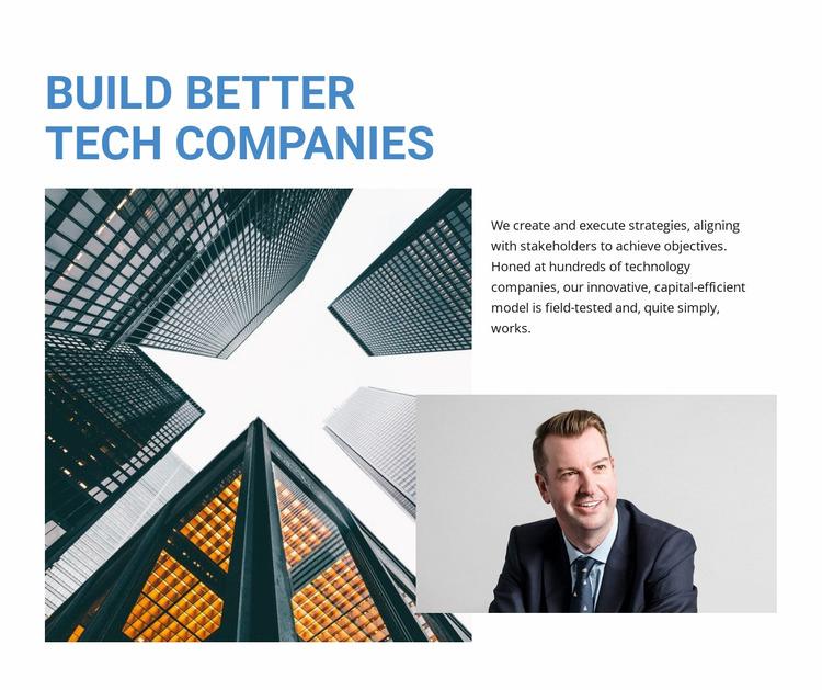 Build Better Tech Companies Html Website Builder