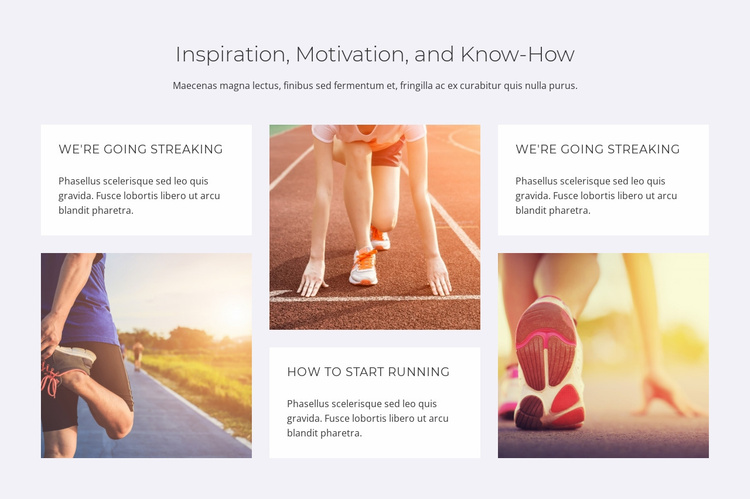 Inspiration motivation and know-how Landing Page
