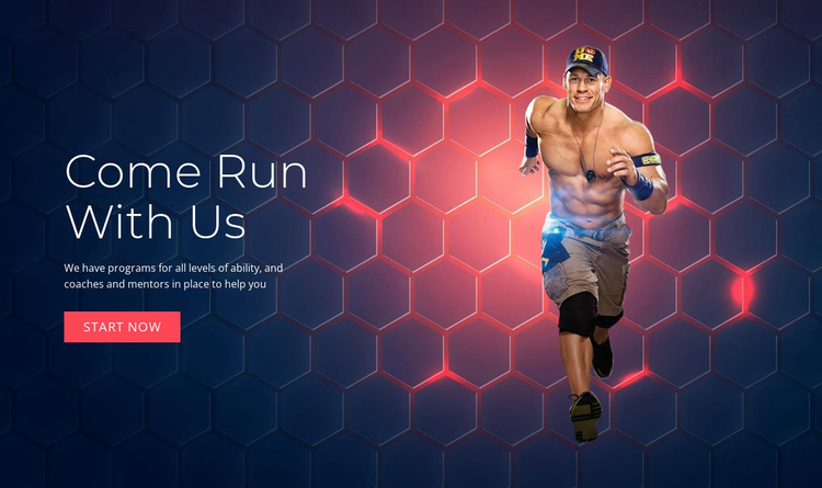 Come Run With Us Website Template