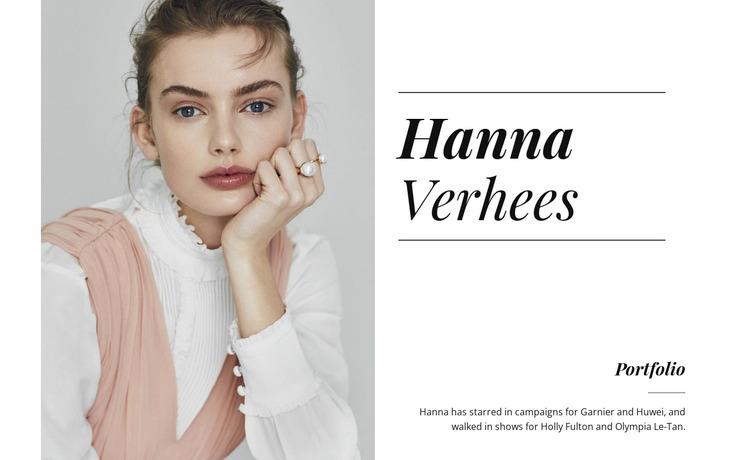 Hanna verhees WordPress Website Builder