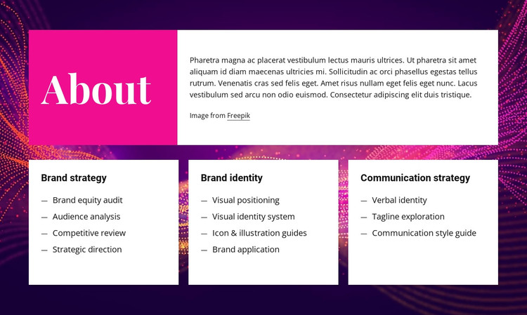 About branding and design HTML Template