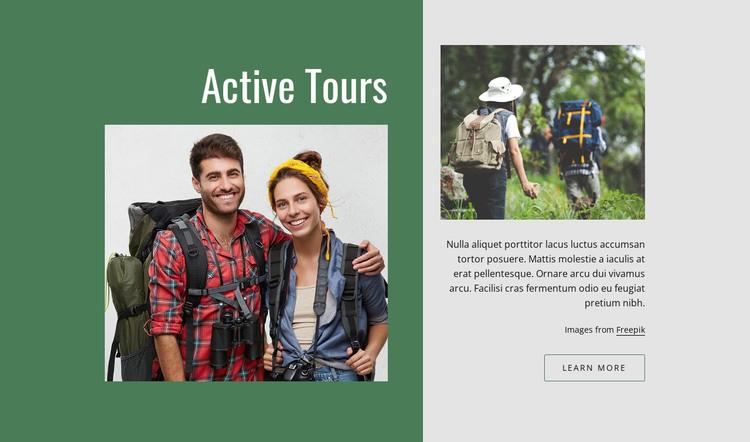 Active romantic tours HTML Template