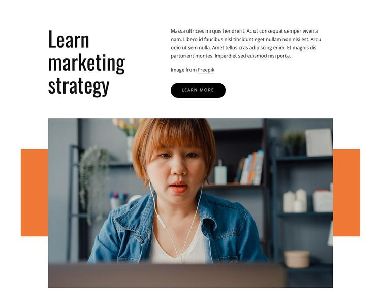 Learn marketing strategy Joomla Template