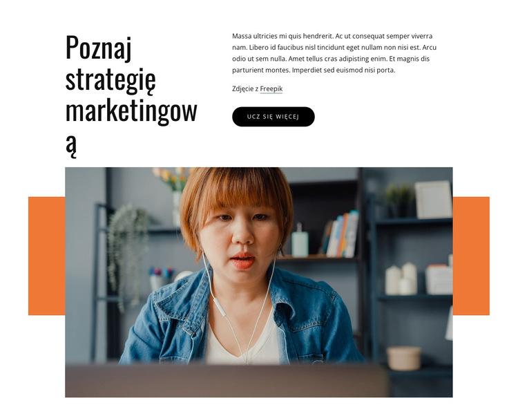 Poznaj strategię marketingową Szablon witryny sieci Web