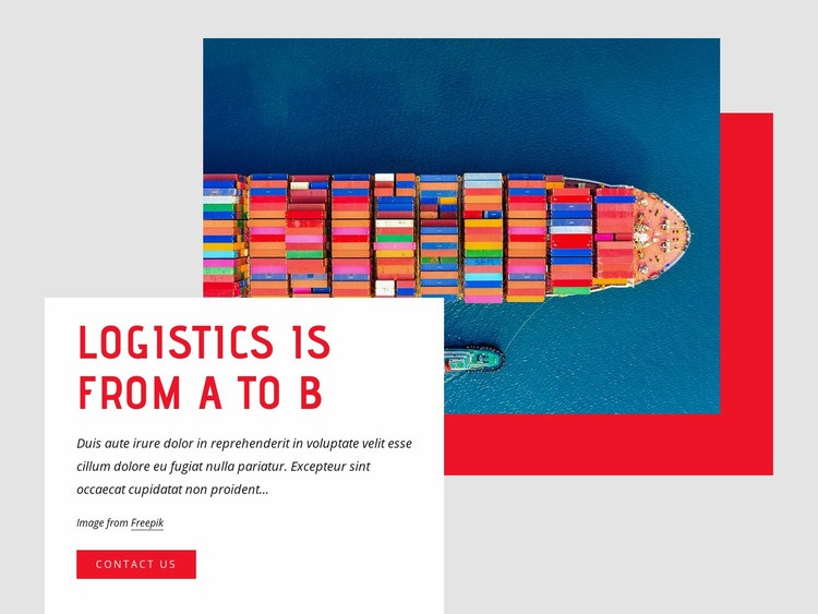 Top container shipping company Web Page Design