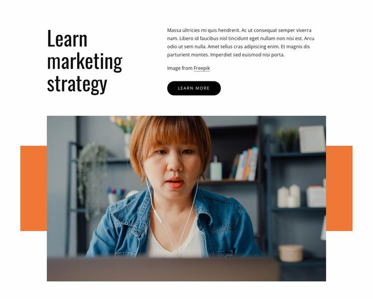 Learn marketing strategy Website Mockup