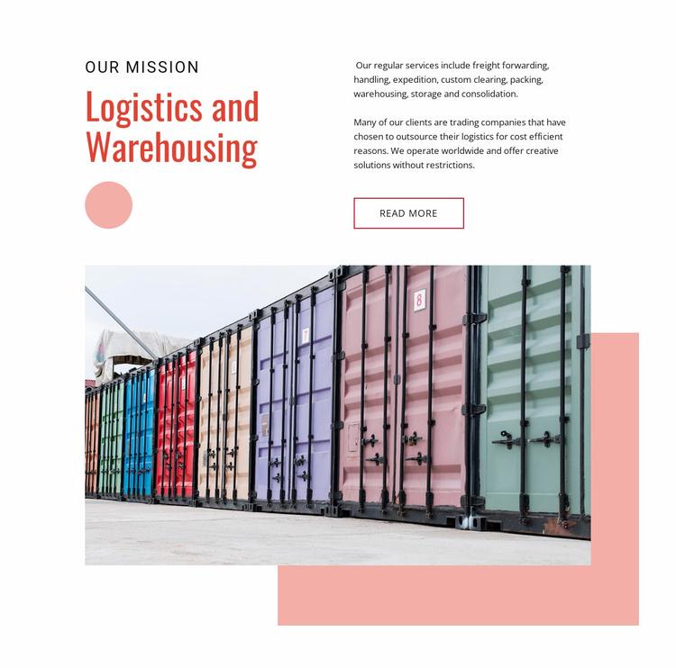 Worldwide cargo shipping Website Template