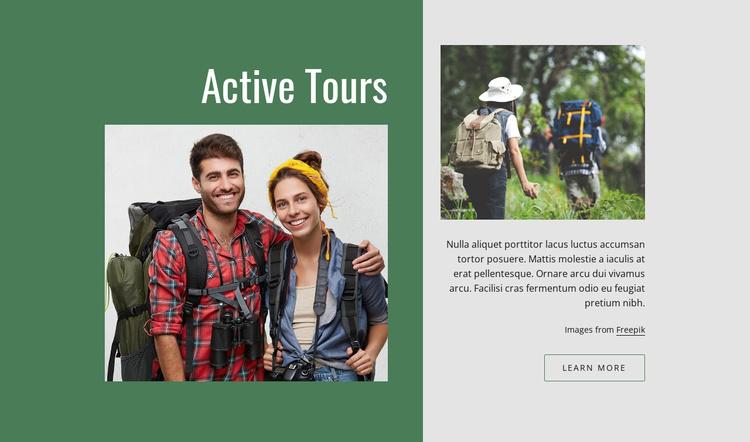 Active romantic tours Website Template