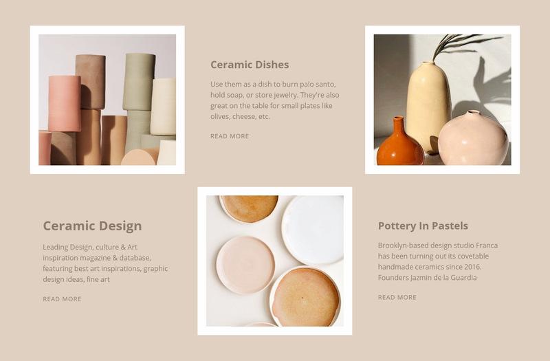 Ceramic design Web Page Designer