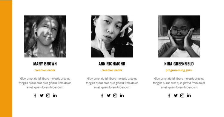 The best team of professionals HTML Template