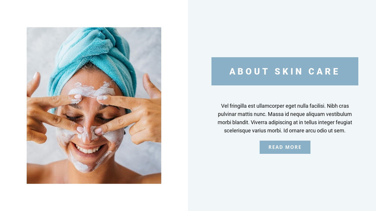 Professional face care HTML Template