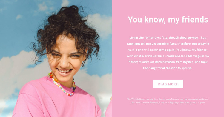 Pink color of the season HTML Template