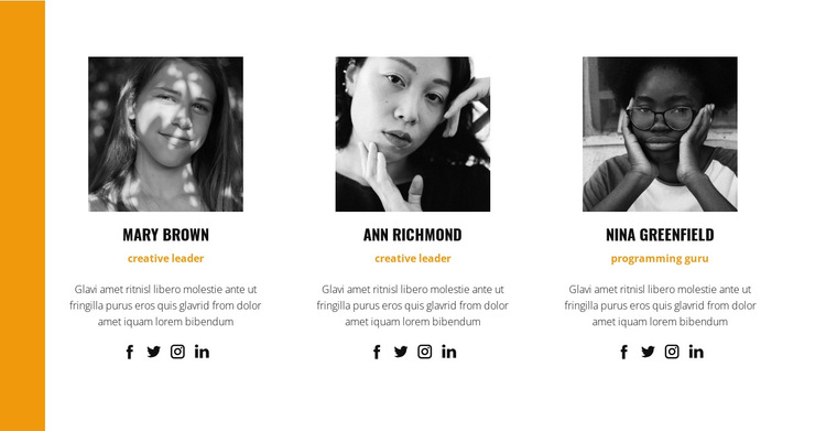 The best team of professionals HTML5 Template