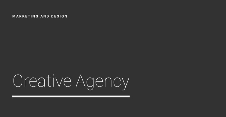 New creative agency Web Design