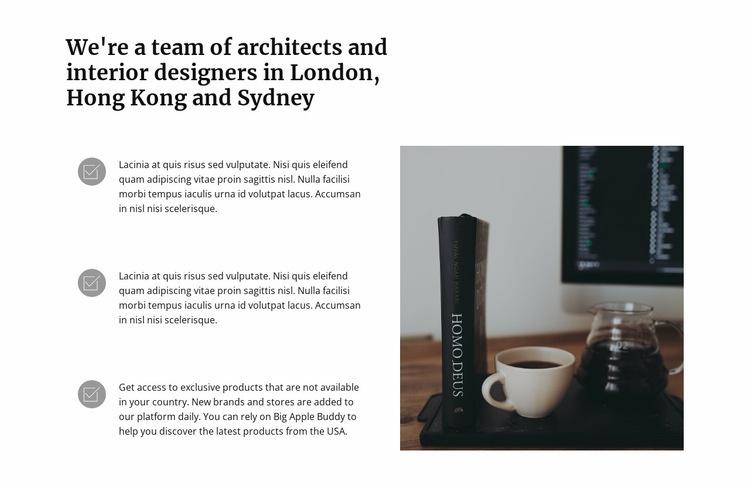 Convenient workplace Web Page Design