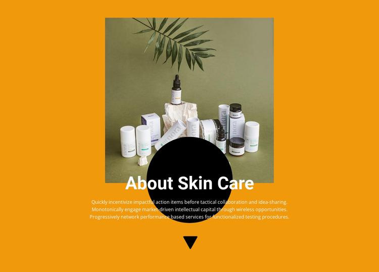Professional cosmetics Website Mockup