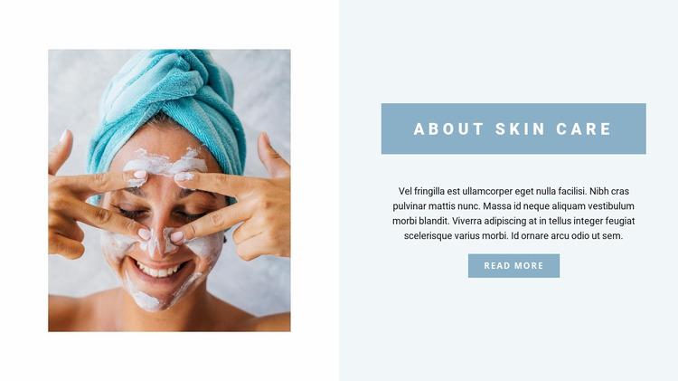 Professional face care Website Mockup