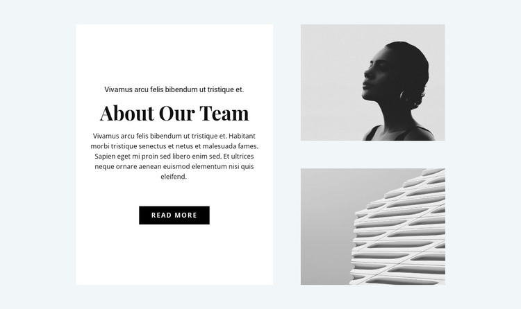 About the design team HTML Template