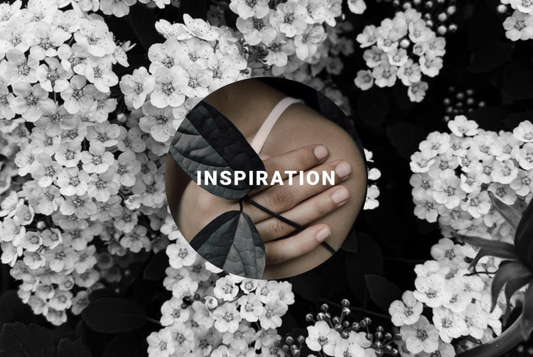 Inspiration in floral HTML Template