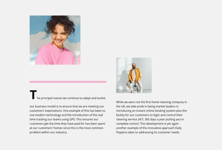 Tips for fashionistas Web Page Designer