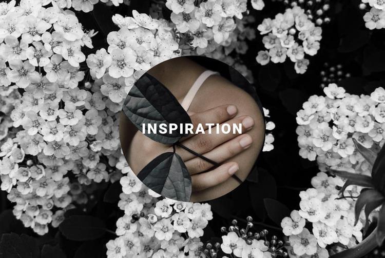 Inspiration in floral Website Mockup