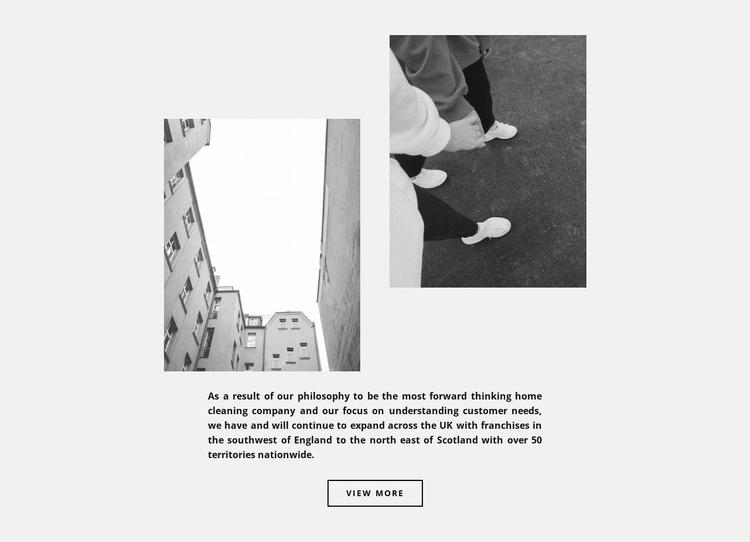 Comfortable street style Website Template