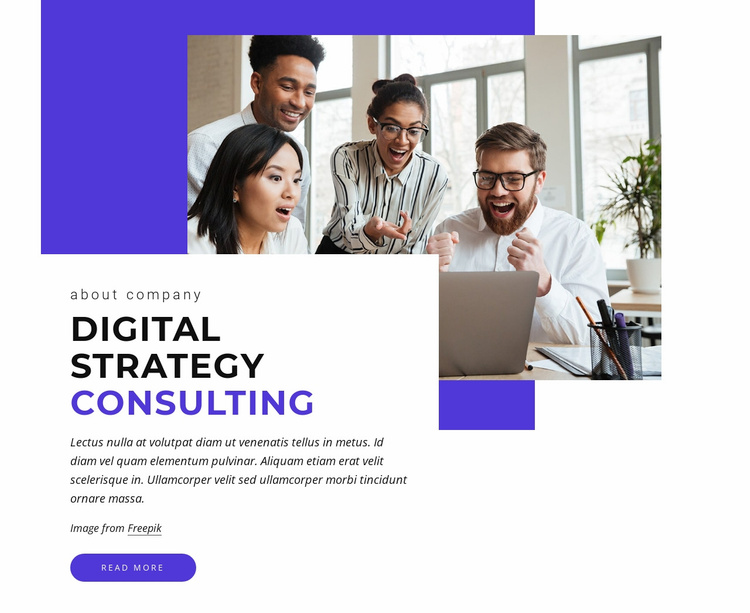 Digital consulting Website Template